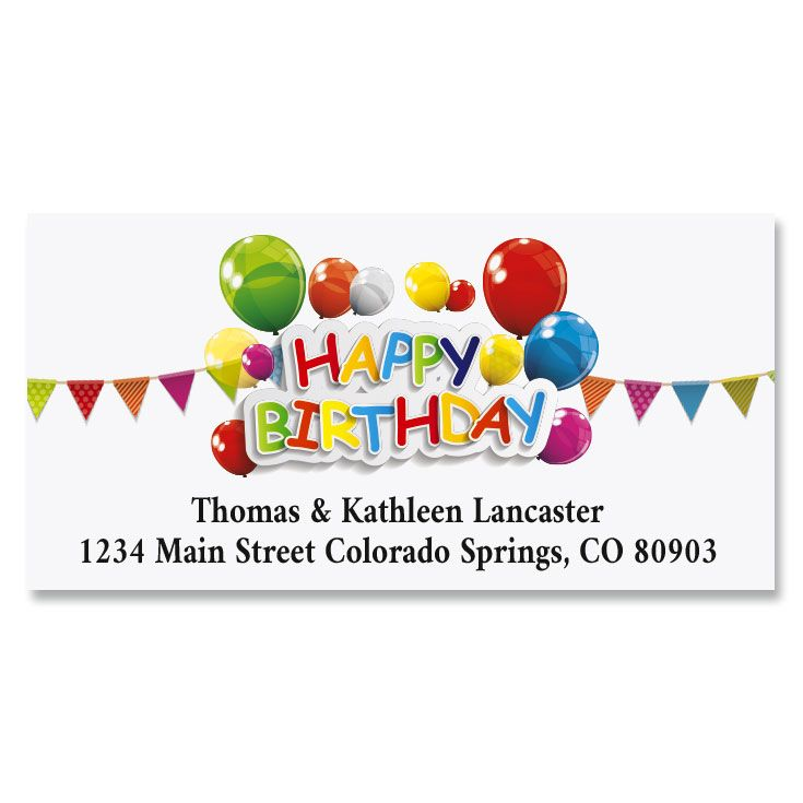 Happy Birthday Deluxe Address Labels (6 Designs)