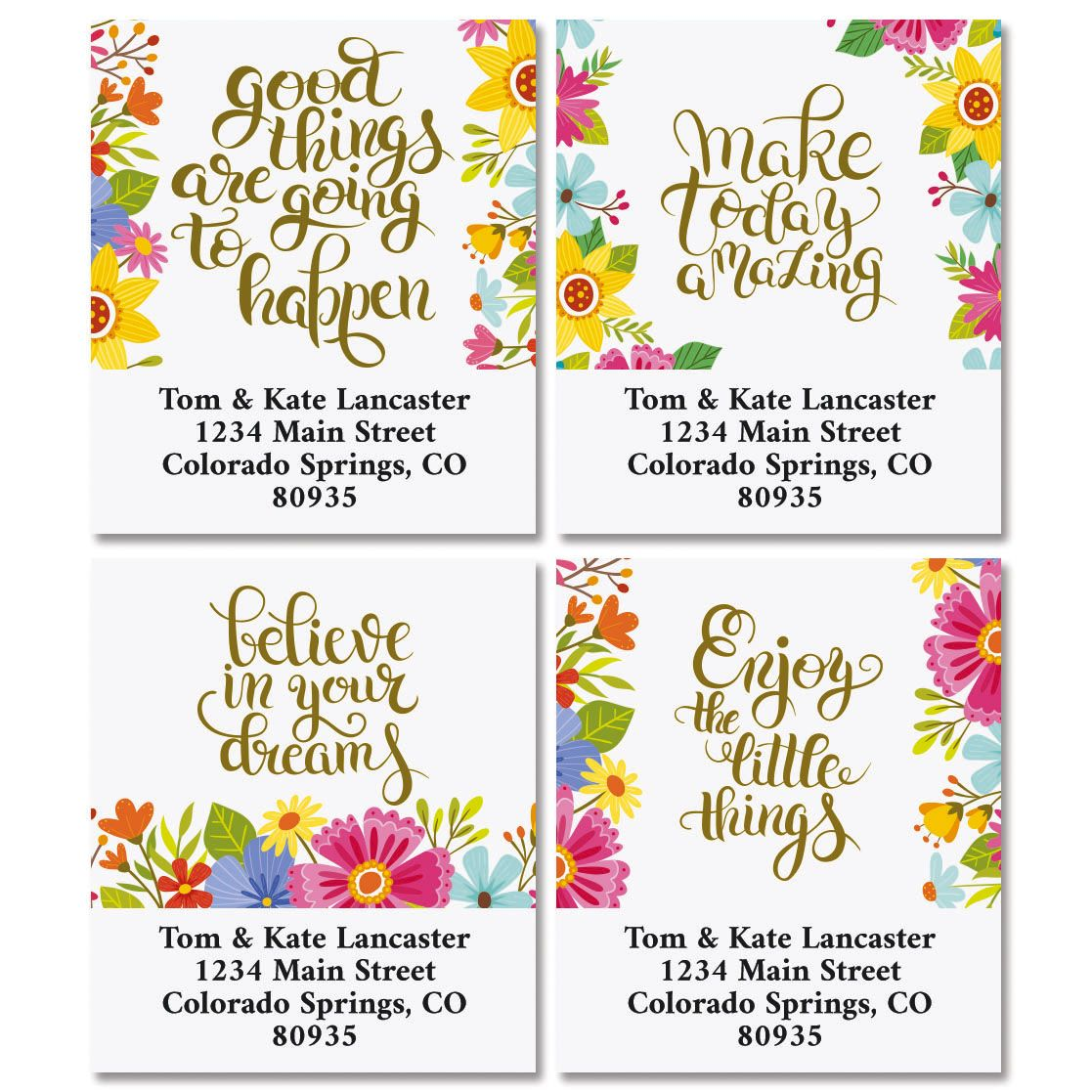 Be Inspired Select Address Labels  (4 Designs)
