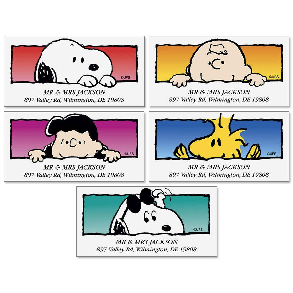 PEANUTS® Hi There Deluxe Label  (5 Designs)