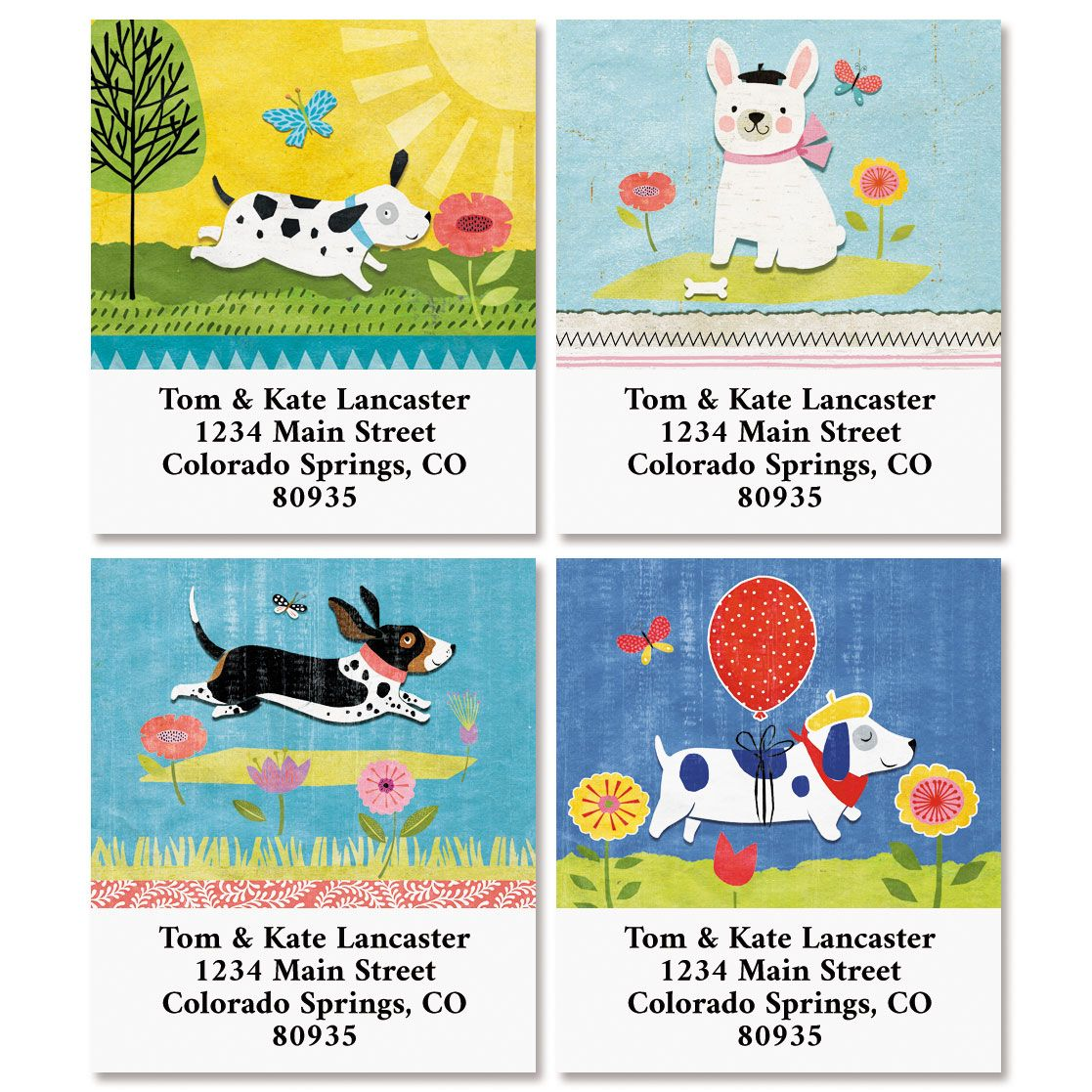 Dog Gone Cute Select Address Labels (4 Designs)