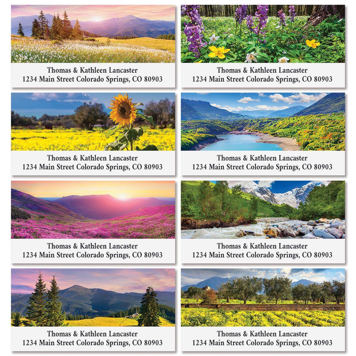 Summer Deluxe Address Labels (8 Designs)