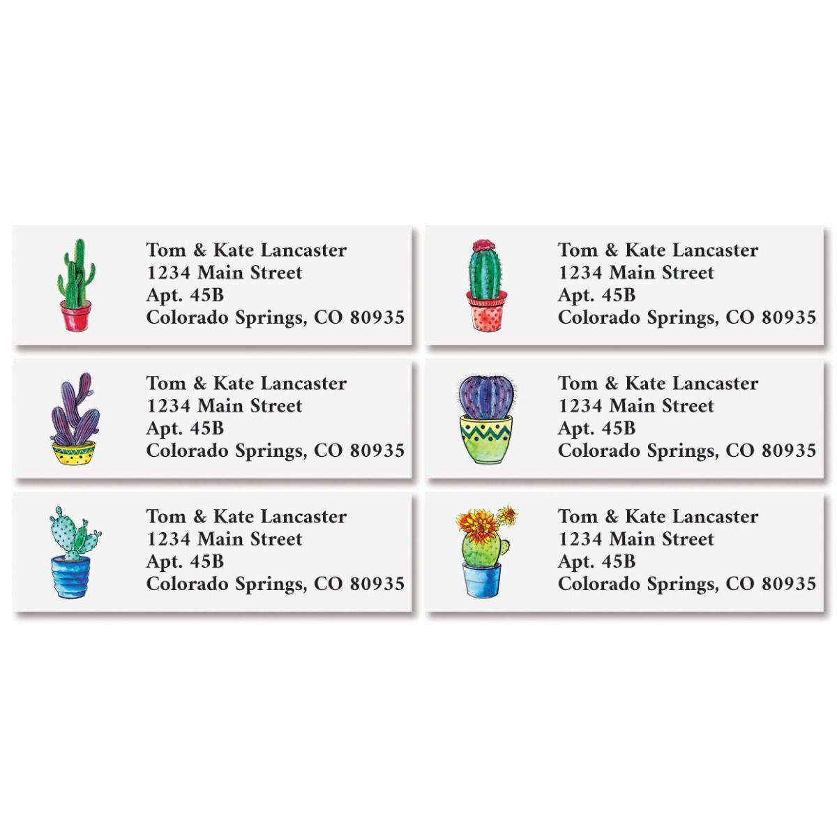 Cacti Classic Address Labels (6 Designs)