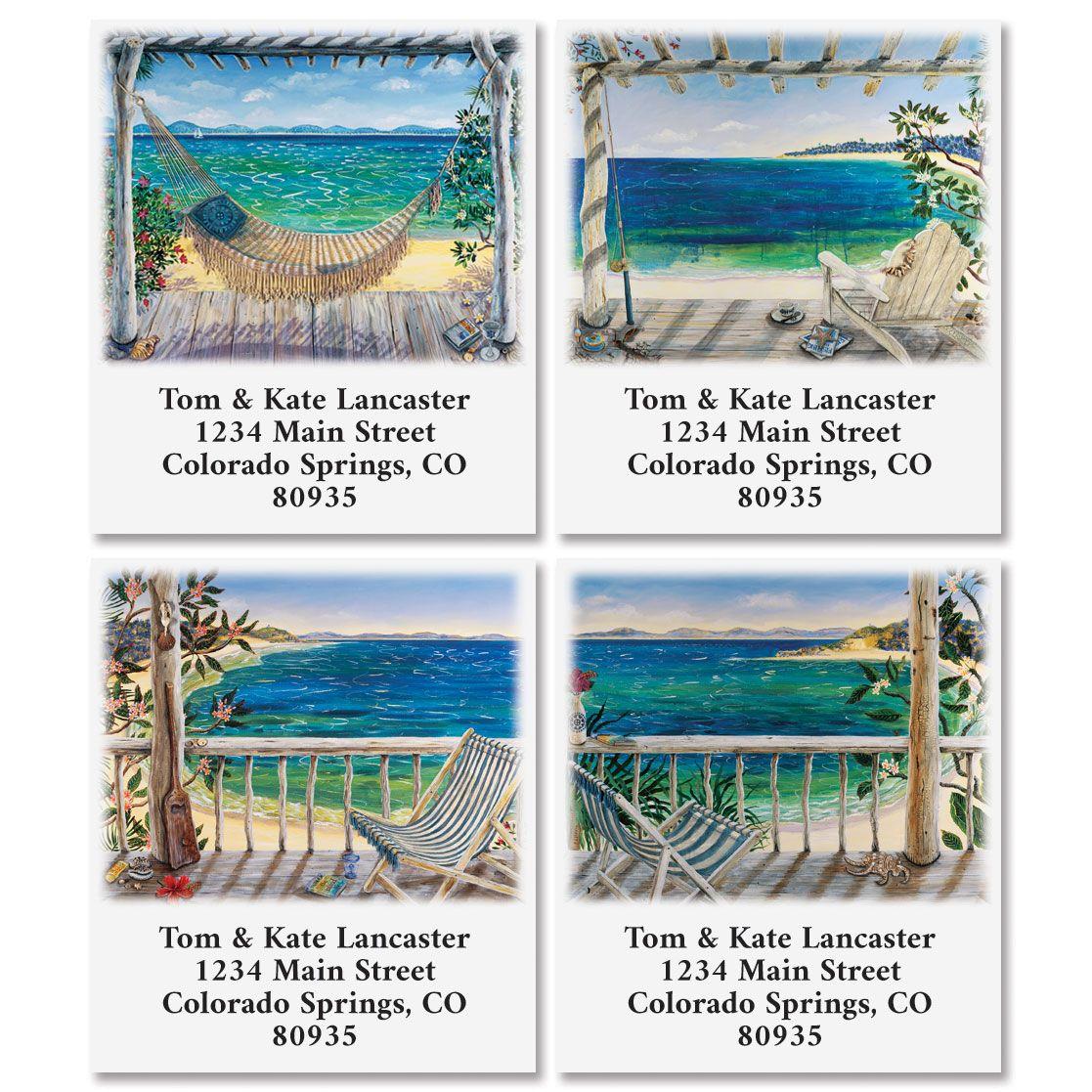 Beach Scenes Select Address Labels (6 Designs)