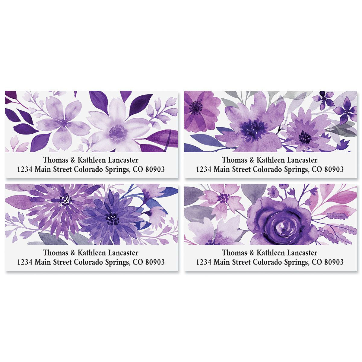Amethyst Floral Deluxe Address Labels (4 Designs)