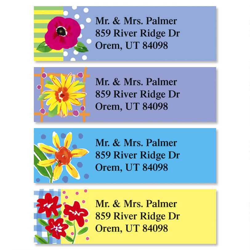 Painted Petals Classic Address Labels  (4 designs)
