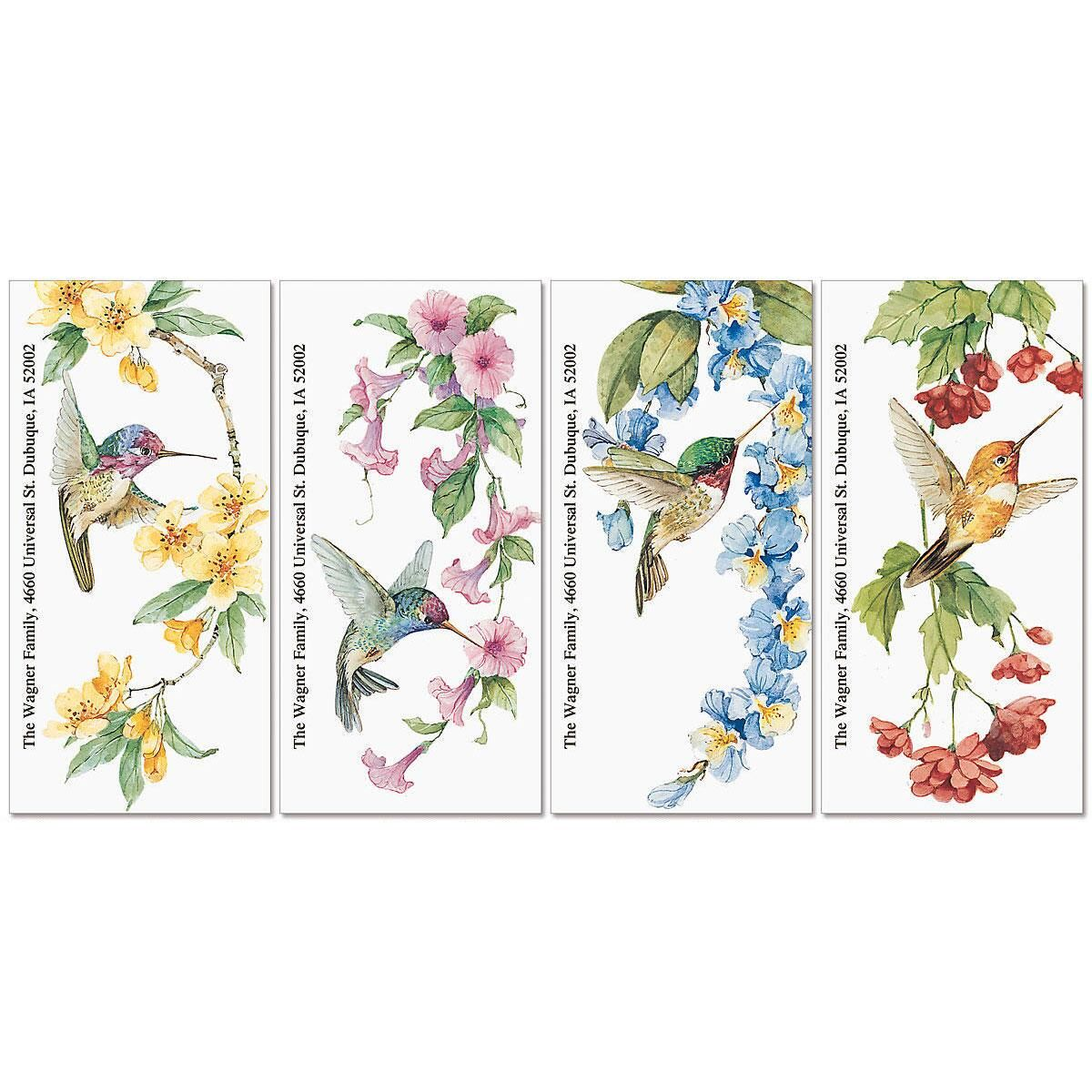 Hummingbird Haven Oversized Address Labels  (4 Designs)