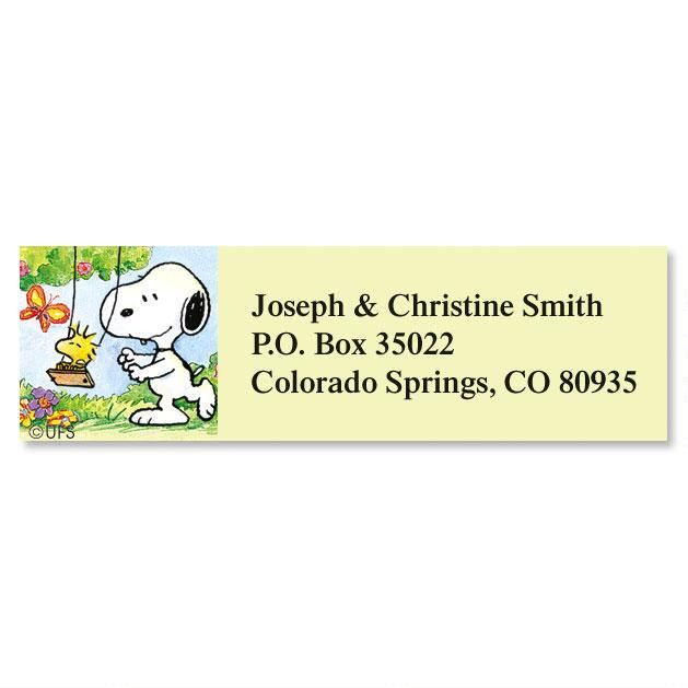 Snoopy™ Year-Round Classic Address Labels  (12 Designs)