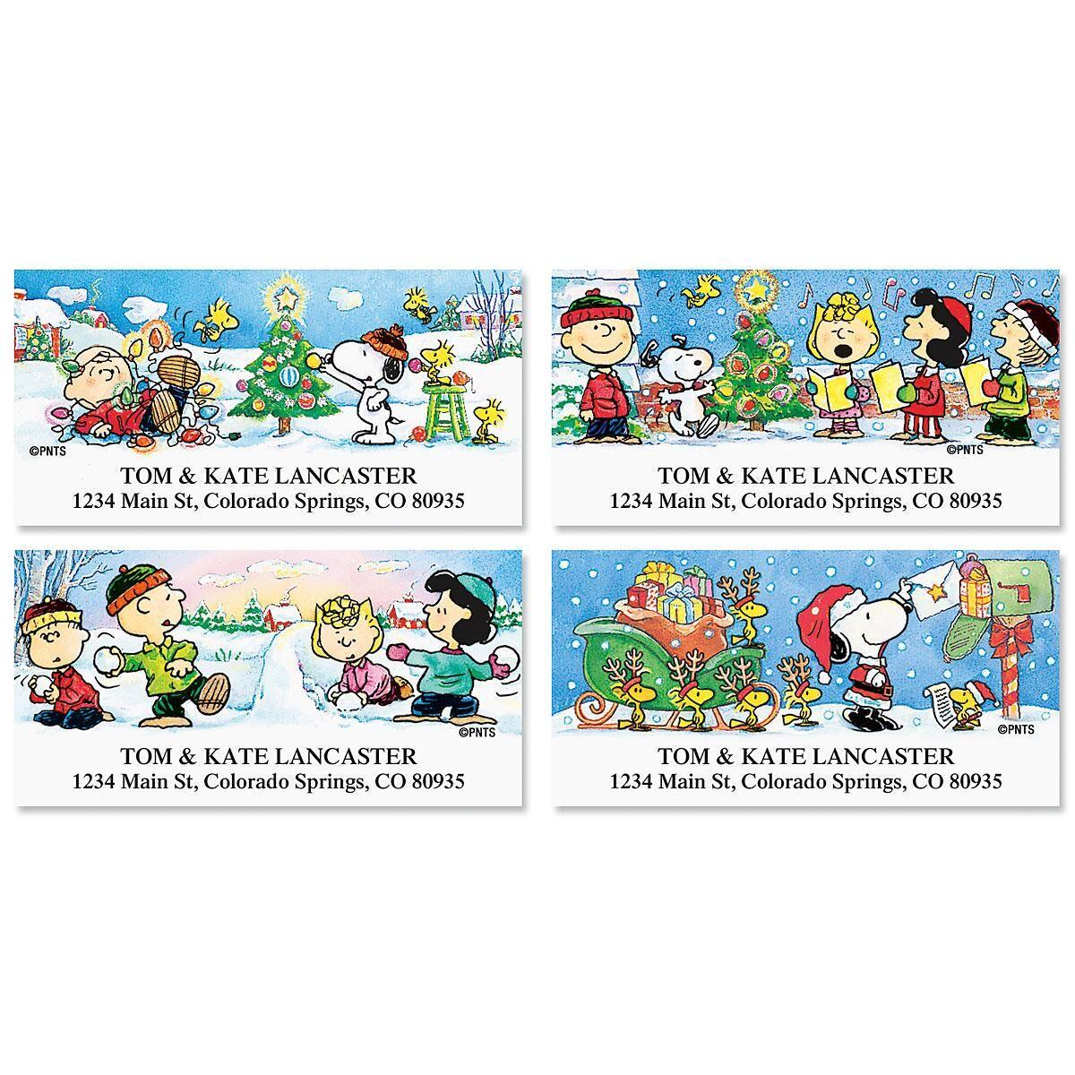 PEANUTS® Holiday Fun Address Labels  (4 Designs)