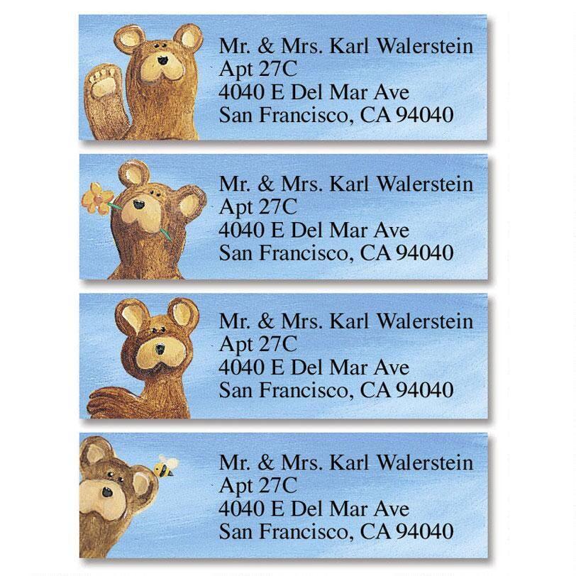 Bear Lodge Buddies  Classic Address Labels  (4 designs)