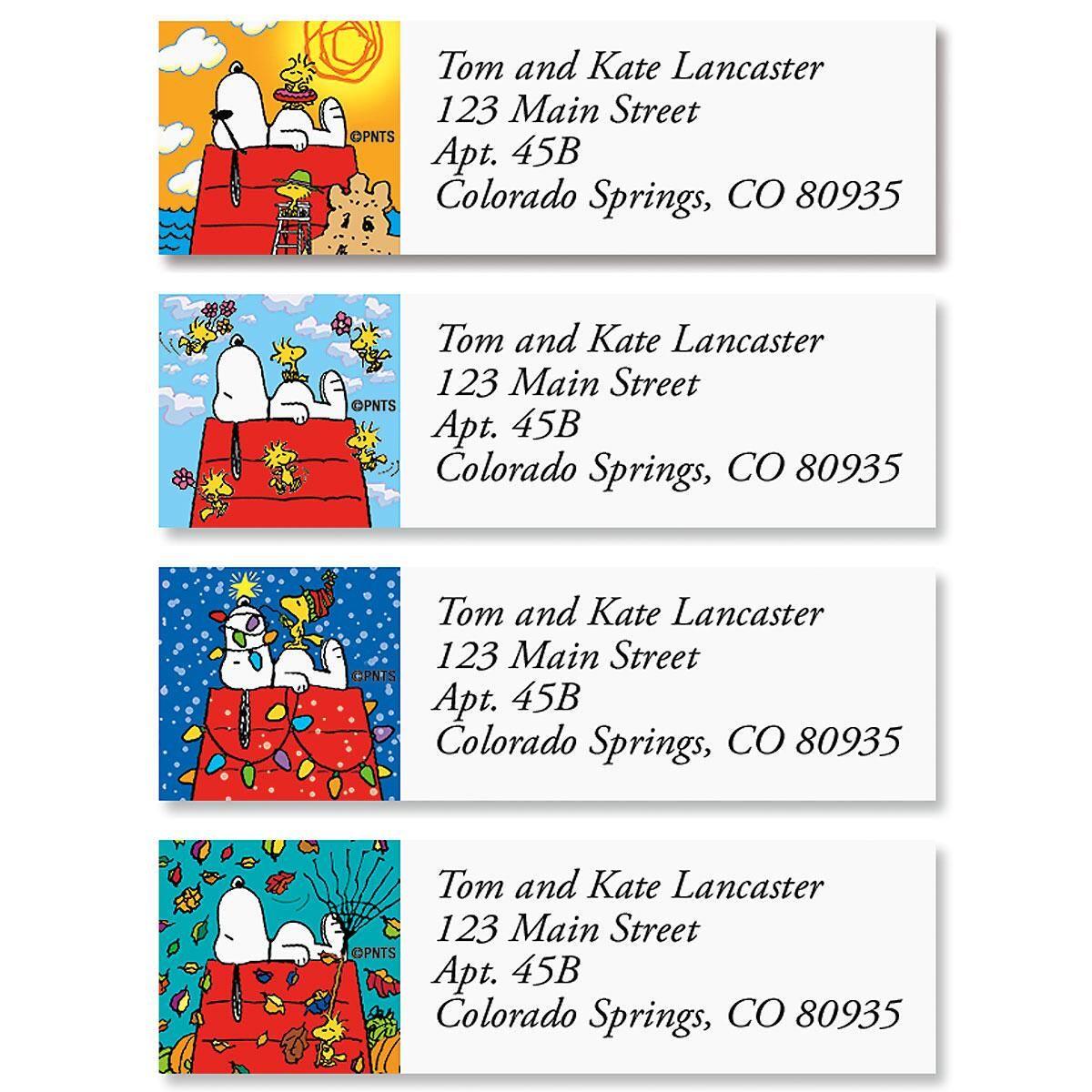 Peanuts Snoopy Four Seasons Classic Label  (4 designs)