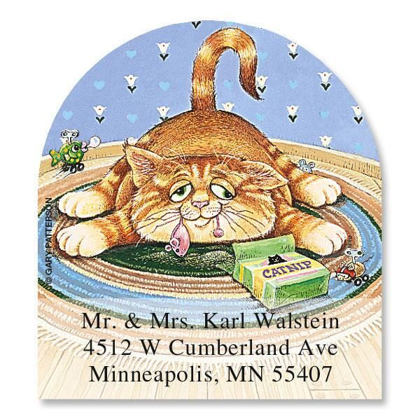 What's New Pussycat? Diecut Address Labels  (6 designs)