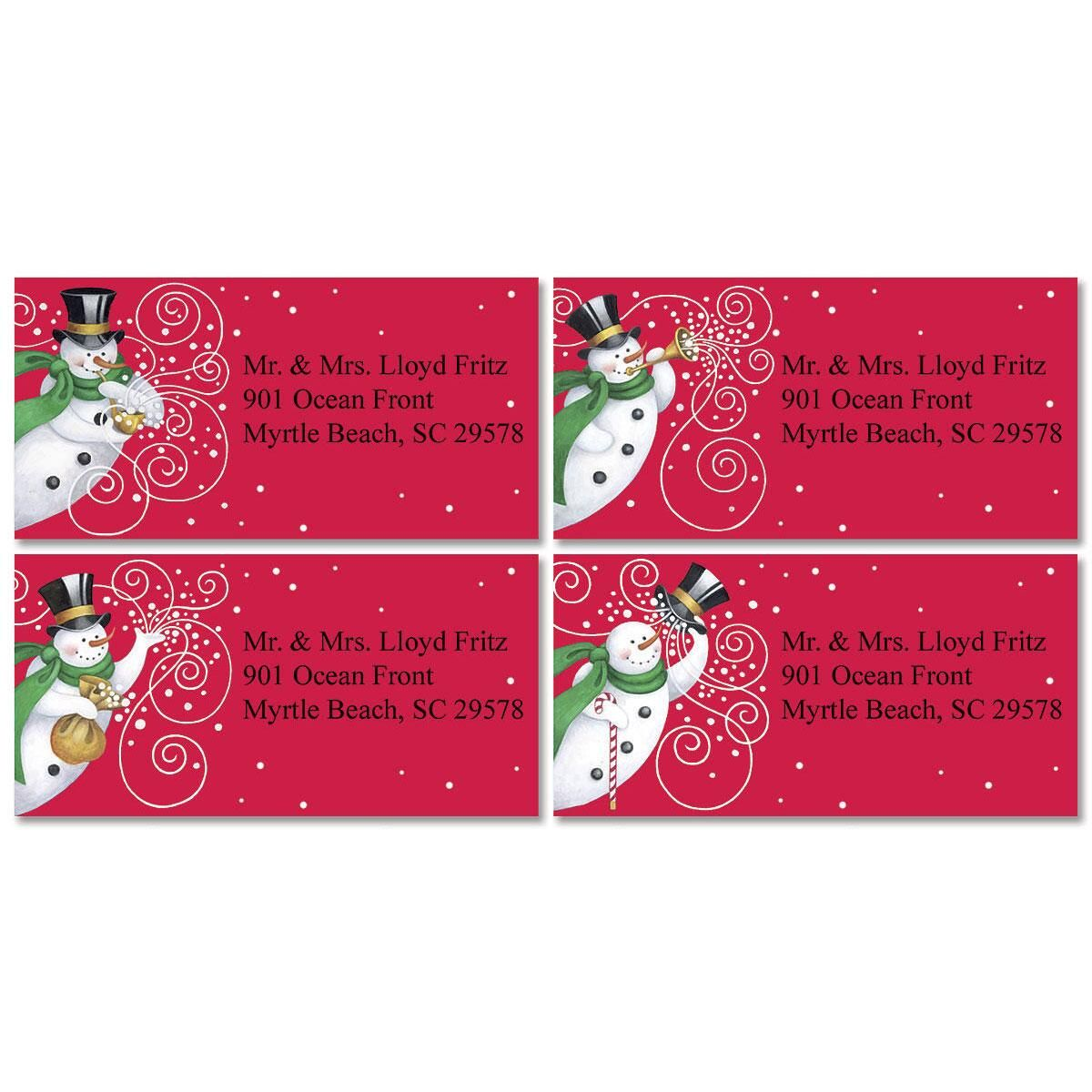 Snowmakers Border Address Labels  (4 designs)