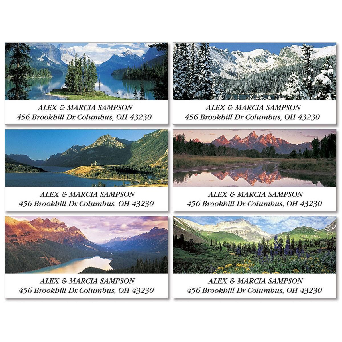 Majestic Peaks Deluxe Address Labels  (6 Designs)
