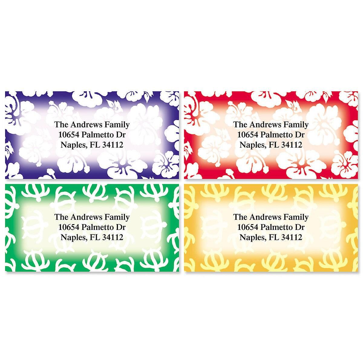 Aloha Border Address Labels  (4 Designs)