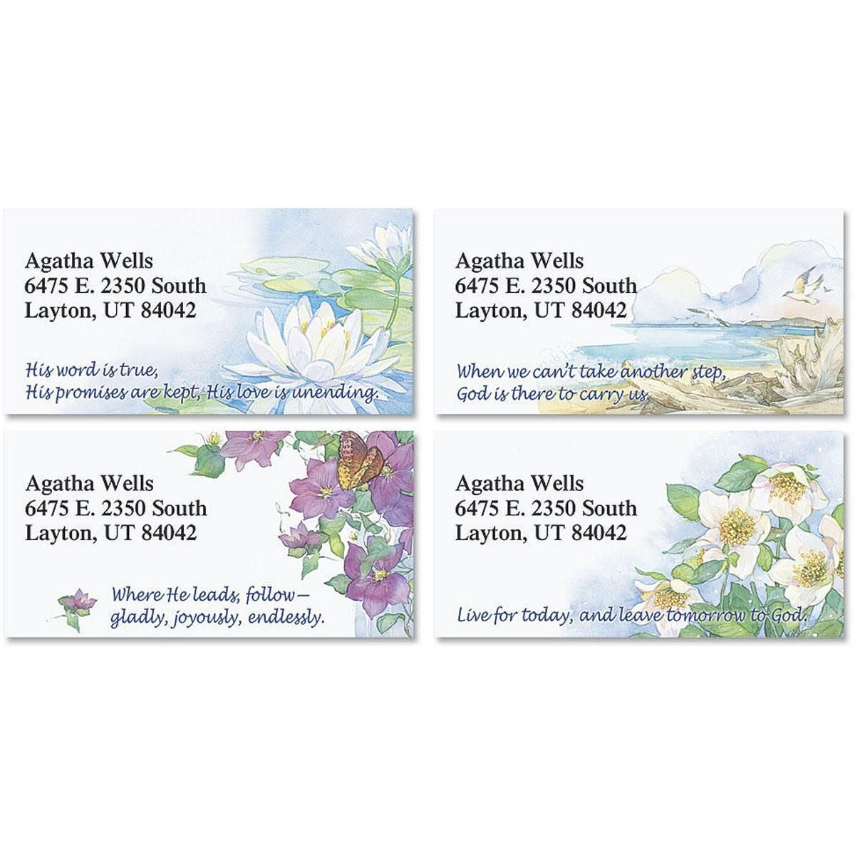 Daily Devotional Border Address Labels  (4 Designs)