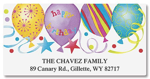 Happy Birthday Deluxe Address Labels