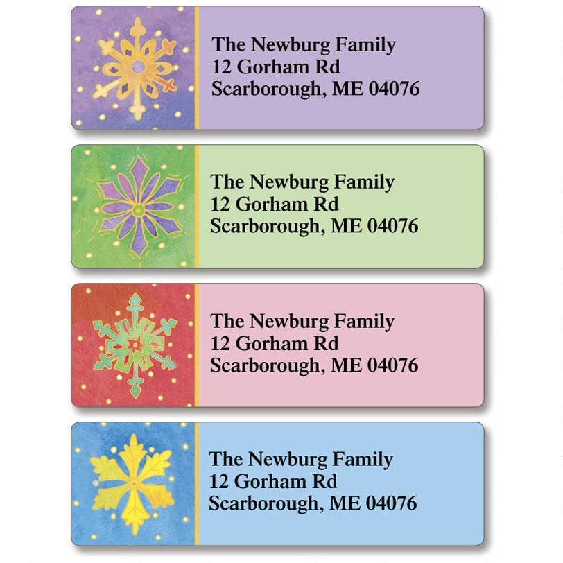 Watercolor Snowflake Classic Address Labels  (4 designs)