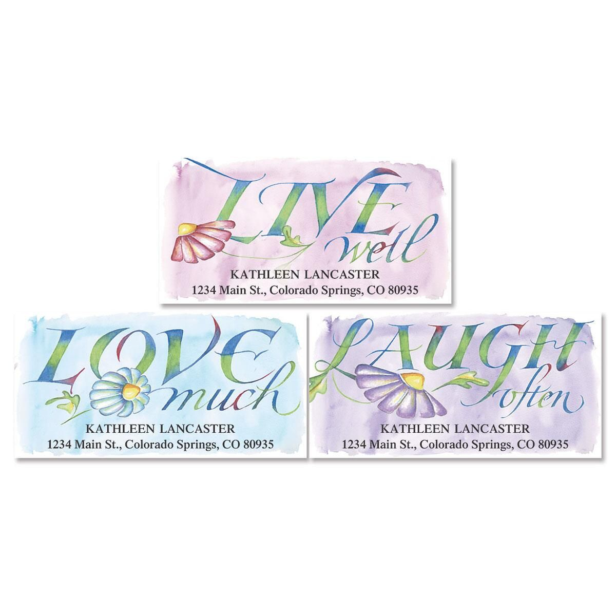 Live, Love, Laugh Address Labels  (3 designs)
