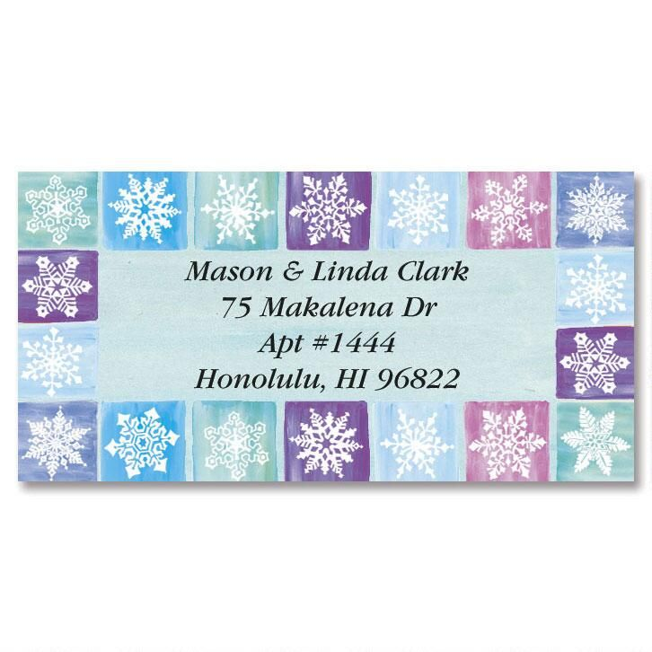 Parade of Seasons Border Address Labels  (8 Designs)