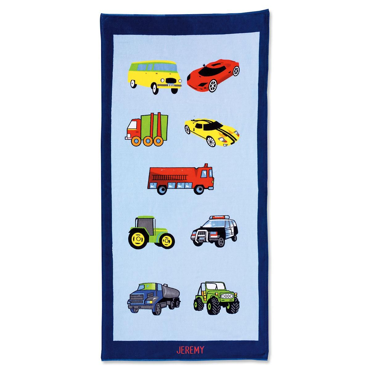 Personalized Cars Beach Towel