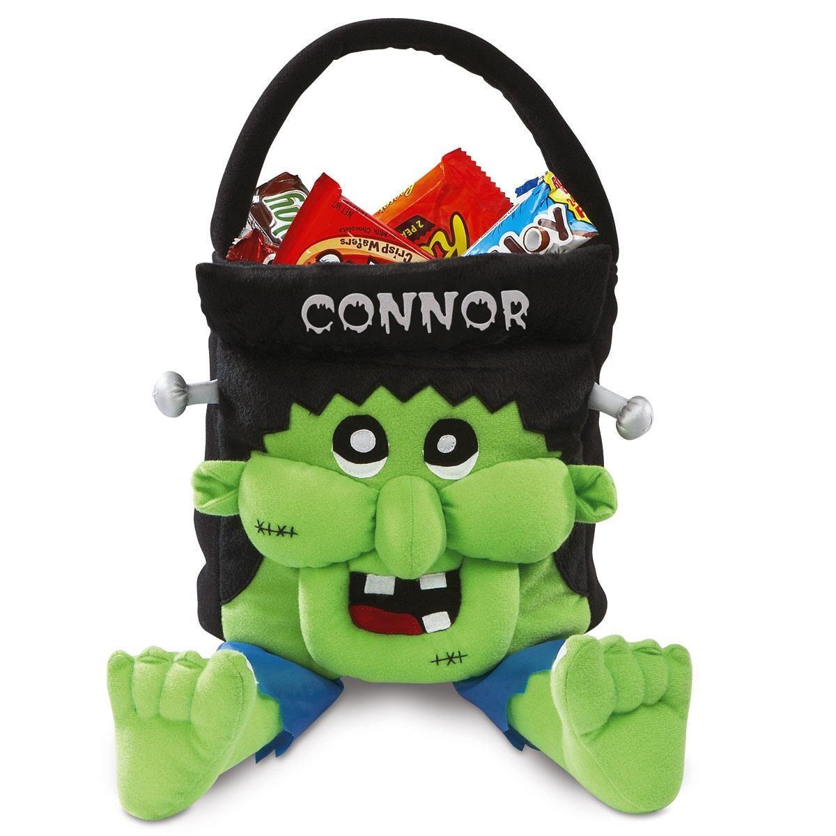 Personalized Freaky Frankie Halloween Treat Bag