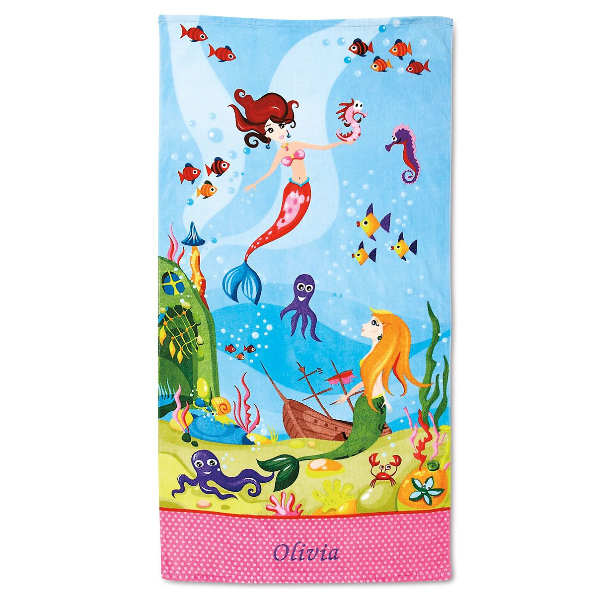 Mermaid Personalized Beach Towel