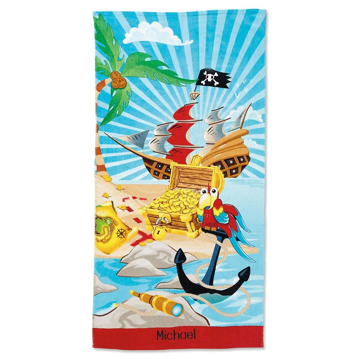 Pirate Personalized Beach Towel