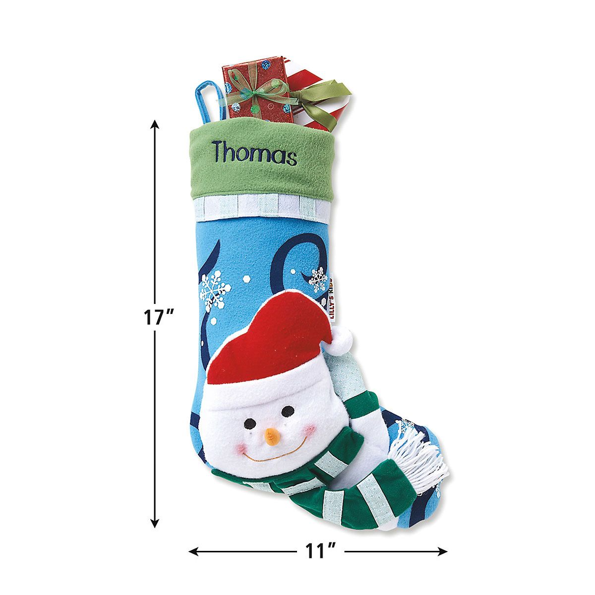 Personalized 3D Christmas Stockings-Snowman-Z812408