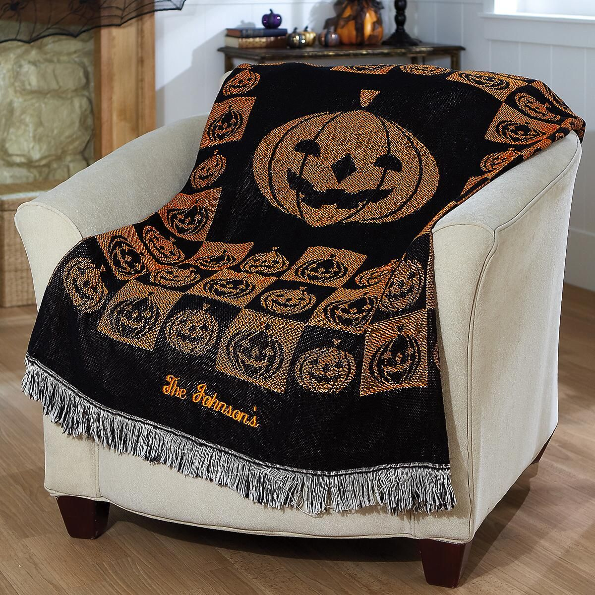 Personalized Halloween Throw