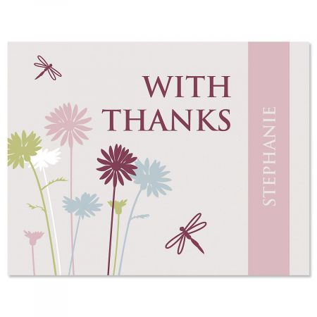Dragonfly Personalized Thank You Cards