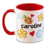 Floral Personalized Name Mug