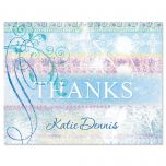 Antique Blues Thank You Cards
