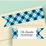 Argyle Connect Wrap Around Diecut Address Labels  (8 Designs)