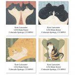 Cozy Cats Address Labels by Warren Kimble  (4 designs)
