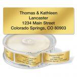 Gold Foil Standard Rolled Address Labels