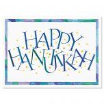 Personalized Hanukkah Calligraphy Card