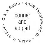 Round Wedding Couples Stamper