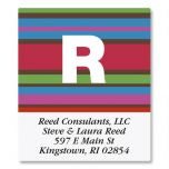 Striped Select Address Labels
