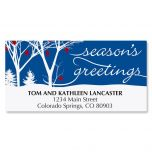 Winter Silhouette Christmas Address Labels