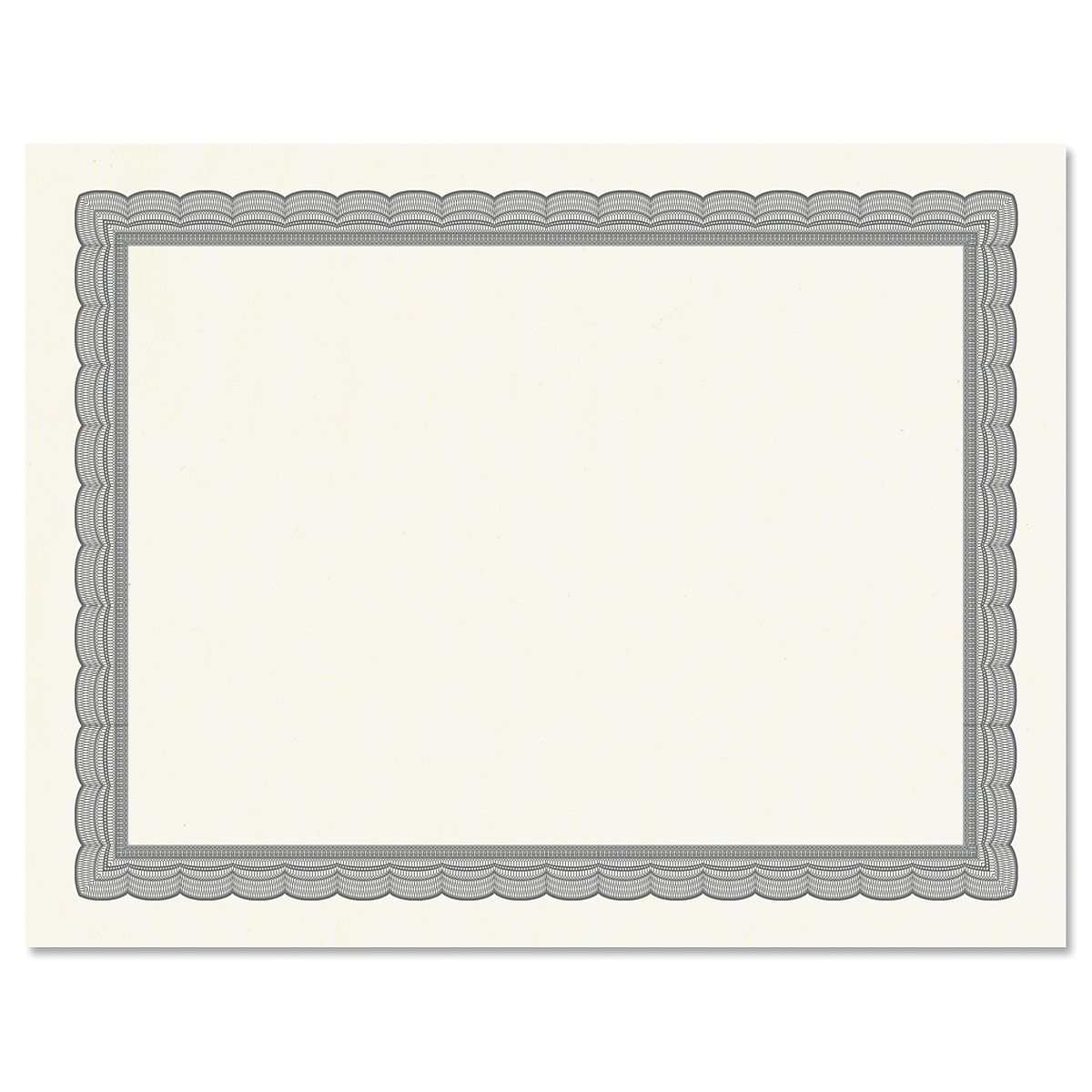 Executive Gray Certificate on White Parchment