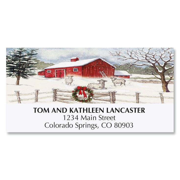 Country Barn Deluxe Address Labels