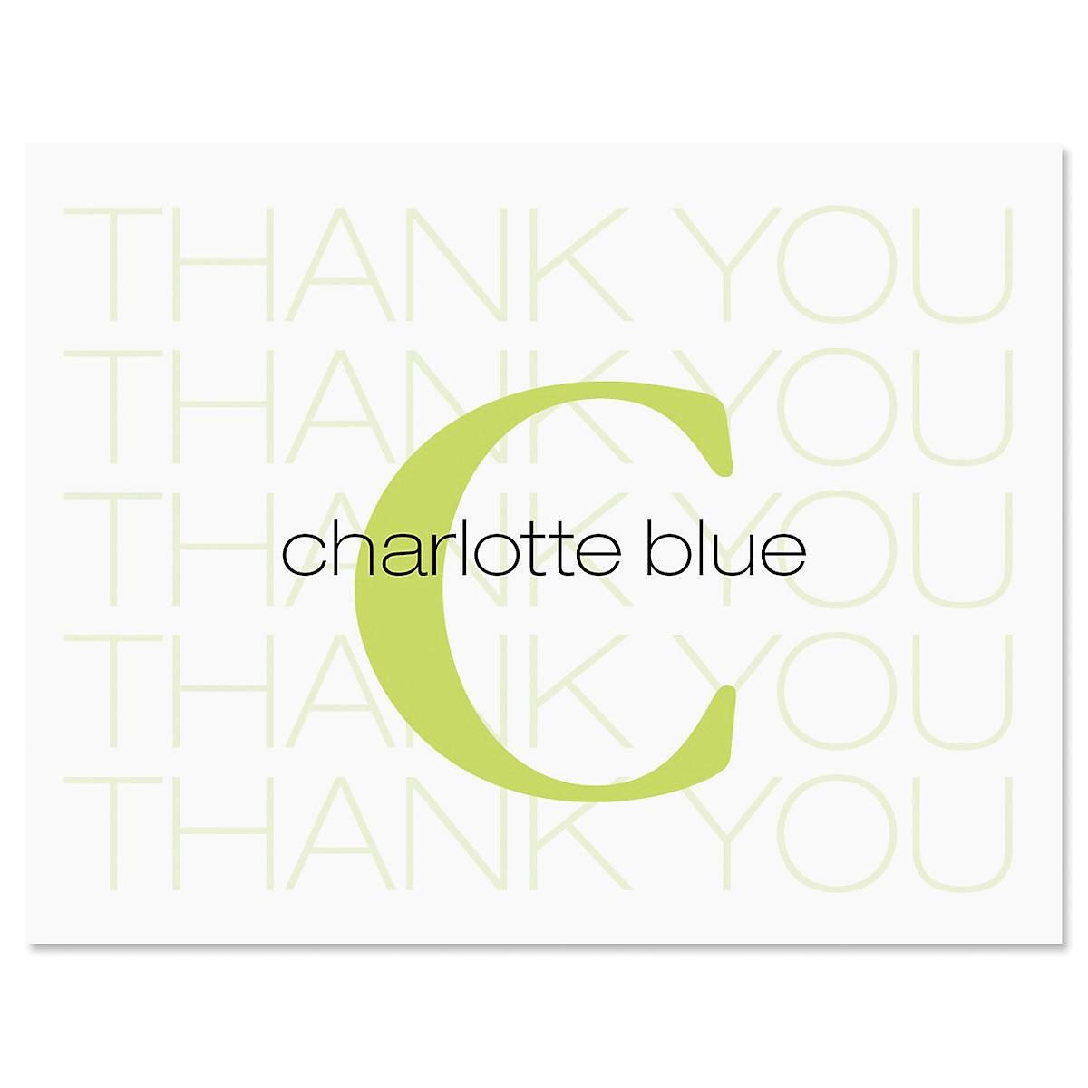 Alpha Beta Personalized Thank You Cards