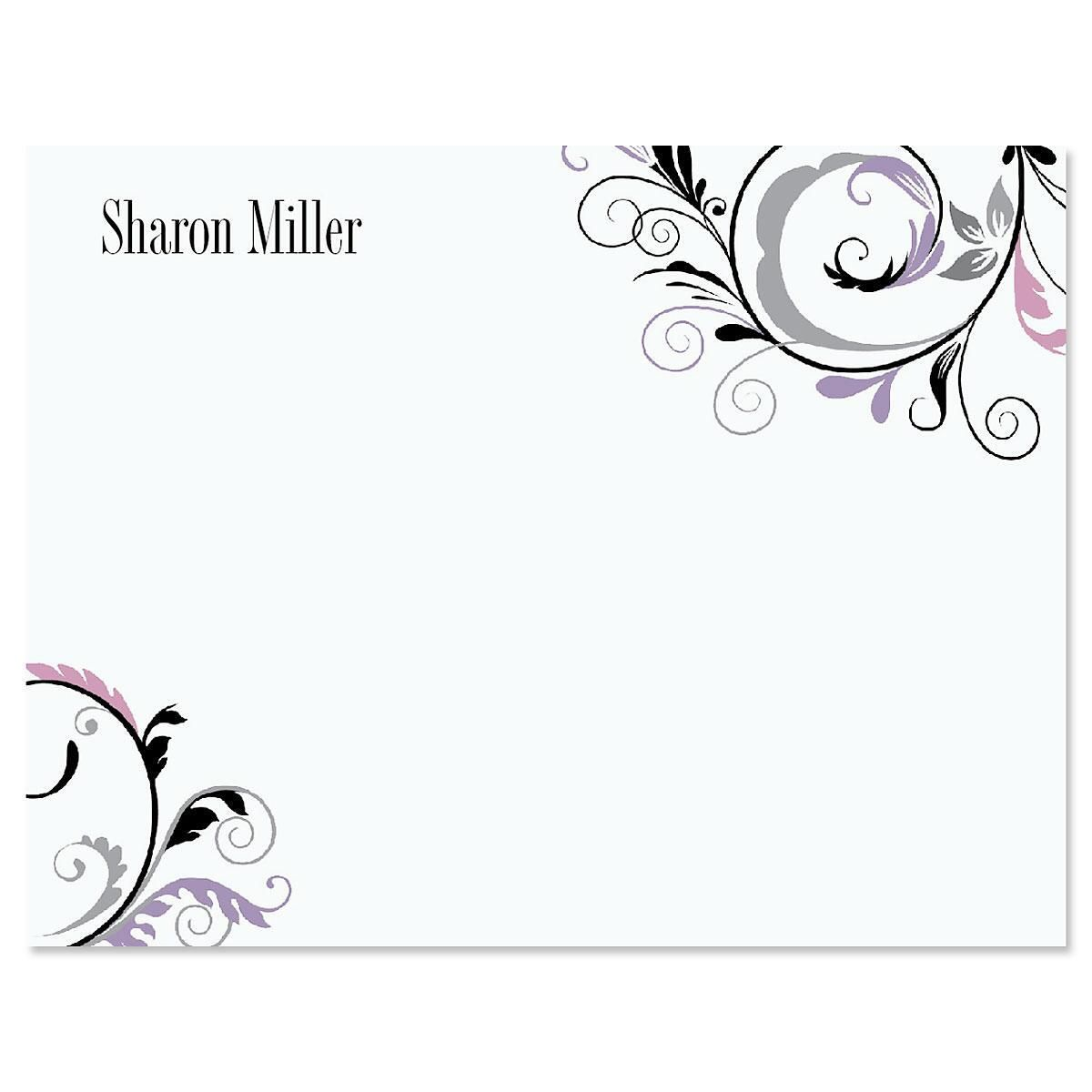 Black & Grey Fantasy Correspondence Card