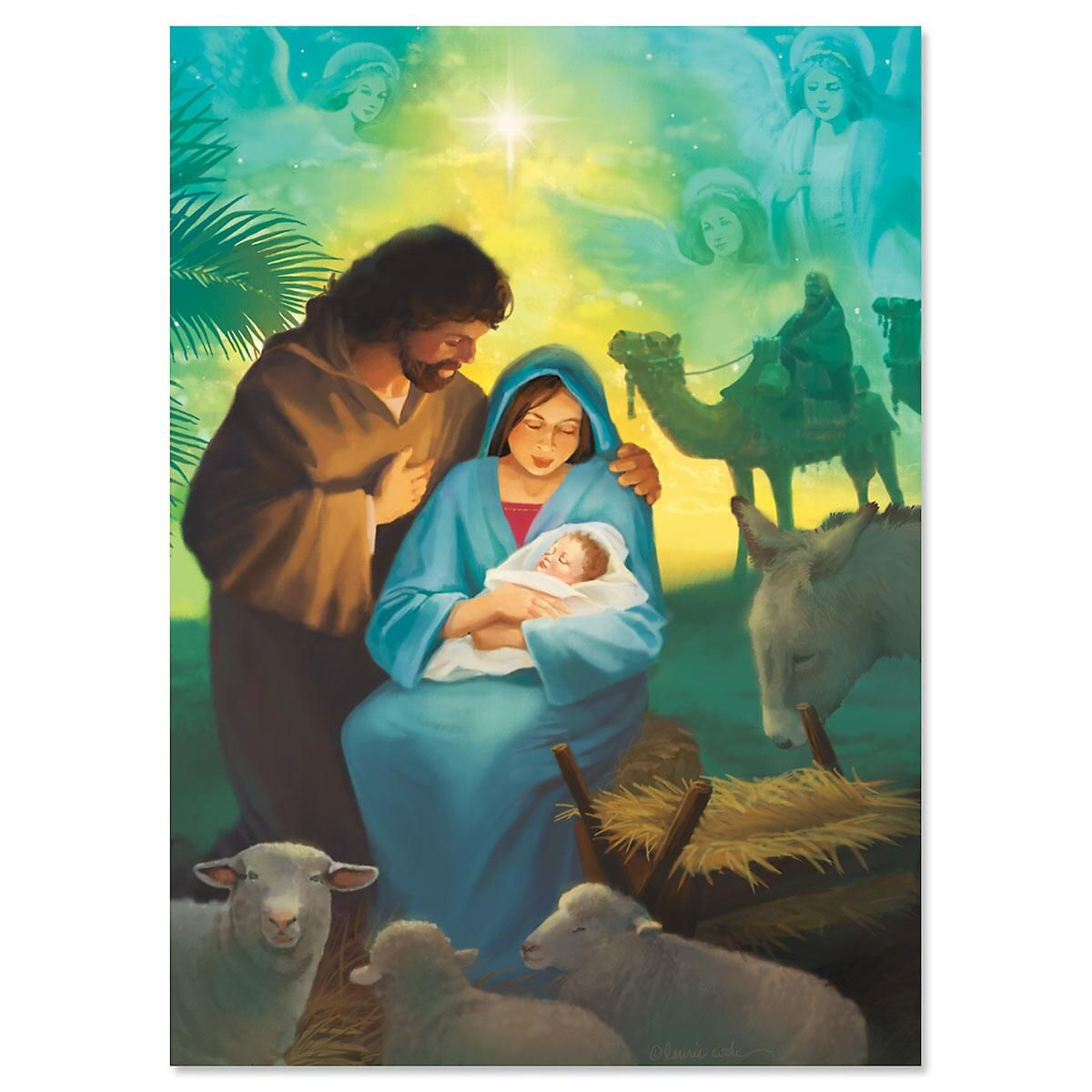 Born This Day Religious Christmas Cards