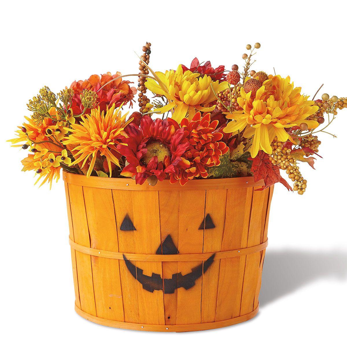 Pumpkin Face Basket