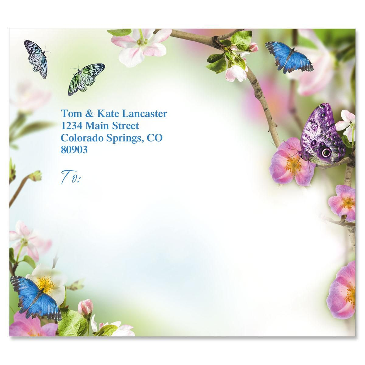 Butterfly Delight Mailing Package Label