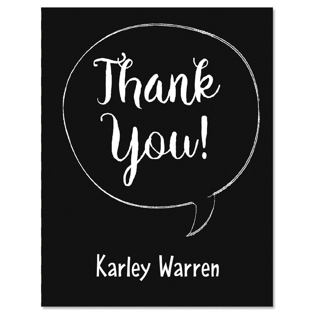 Chalkboard Graduation Personalized Thank You Note Cards