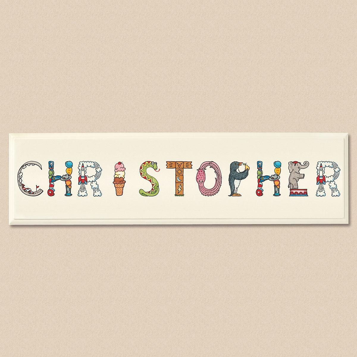 Character Letter Plaque For Boys
