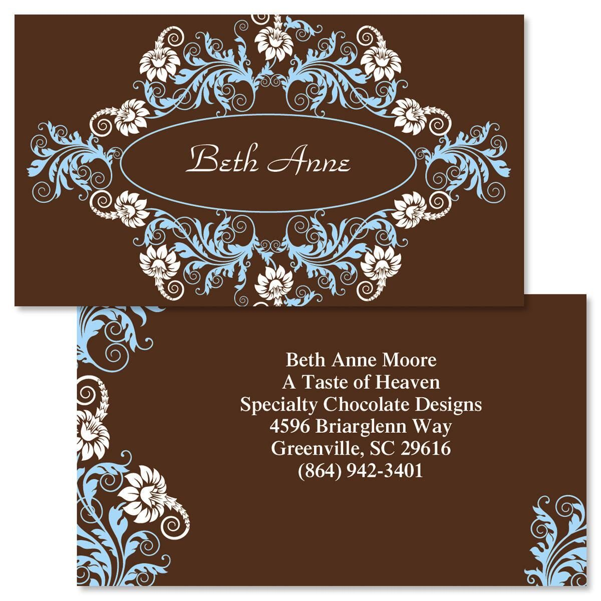 Chocolate Whimsy Two-Sided Calling Card