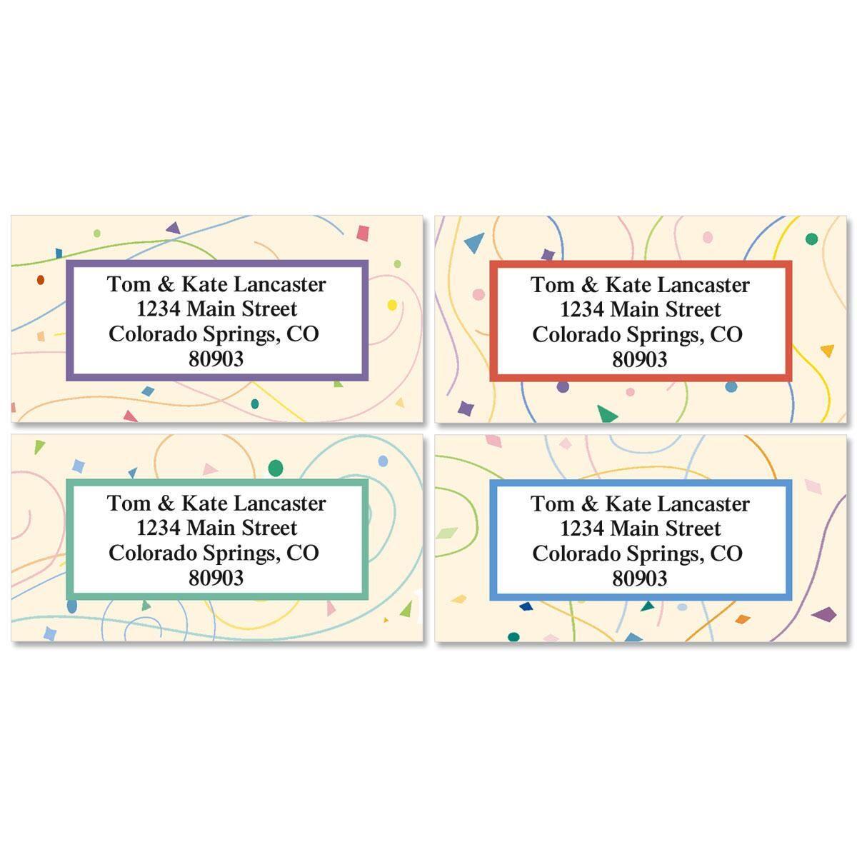 Confetti Address Labels  (4 designs)